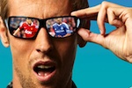 Peter Crouch in 3D glasses