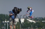 Panasonic camcorder at 2012 BMX track