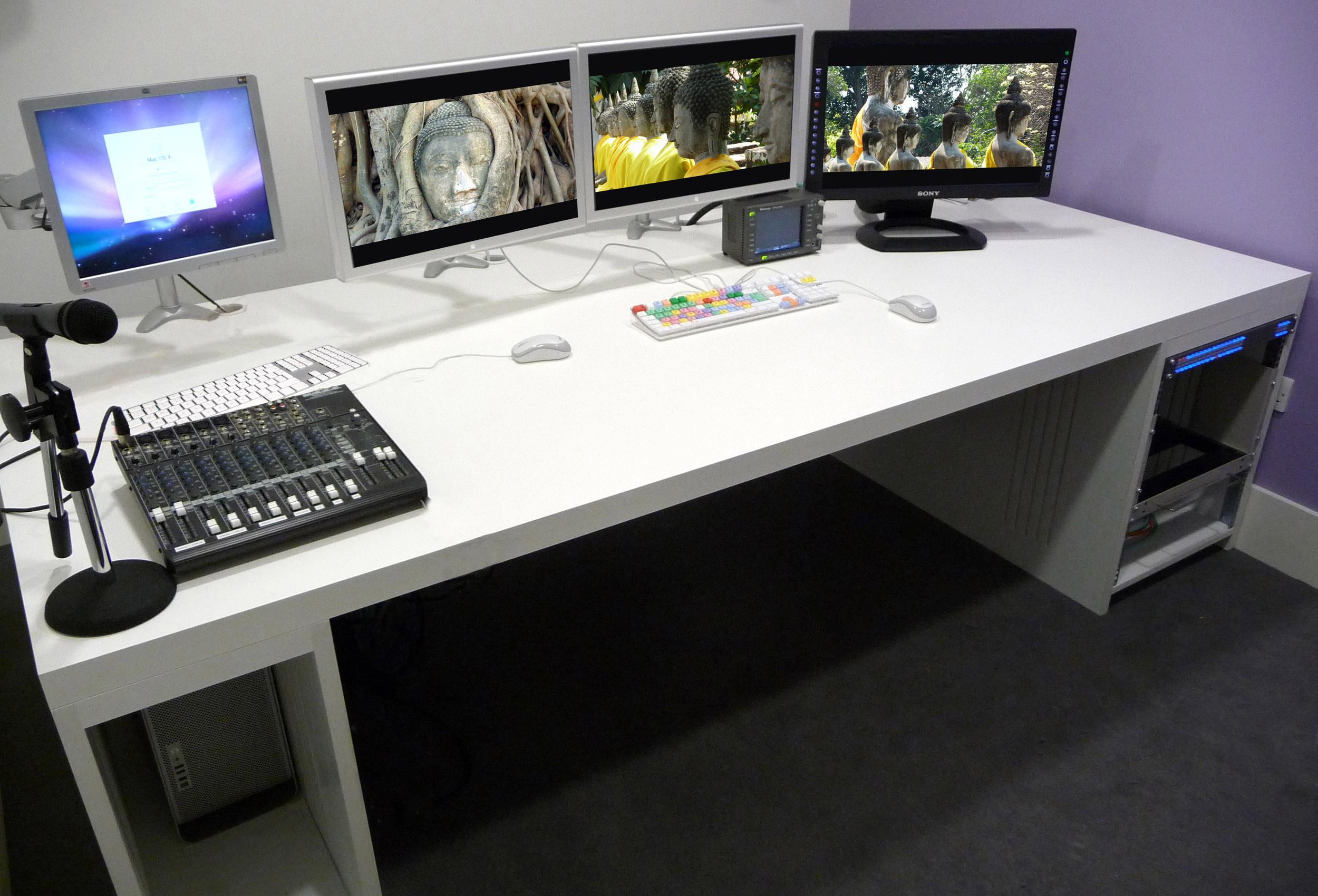 Custom Console installs four edit desk suites at UK satellite network