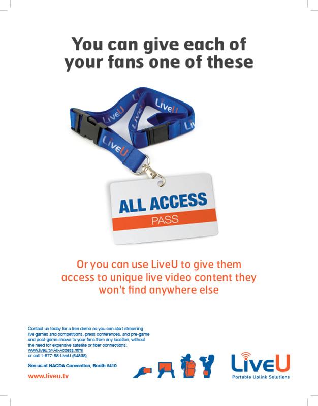 LiveU_ad2sport_print - Athletics Administration magazine