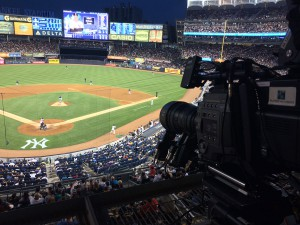 One of two Ikegami 8K cameras used at Yankee Stadium